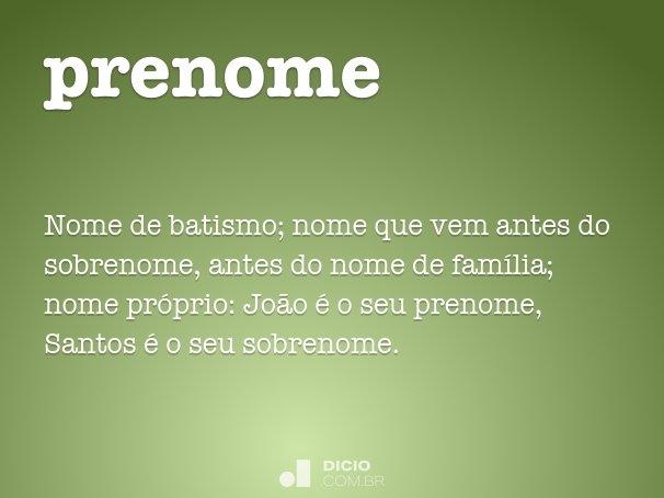 prenome