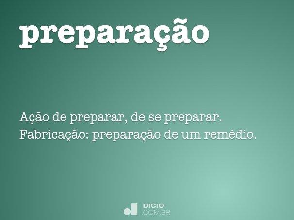 prepara��o