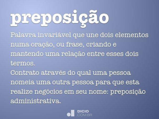 preposição