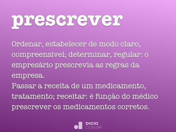 prescrever