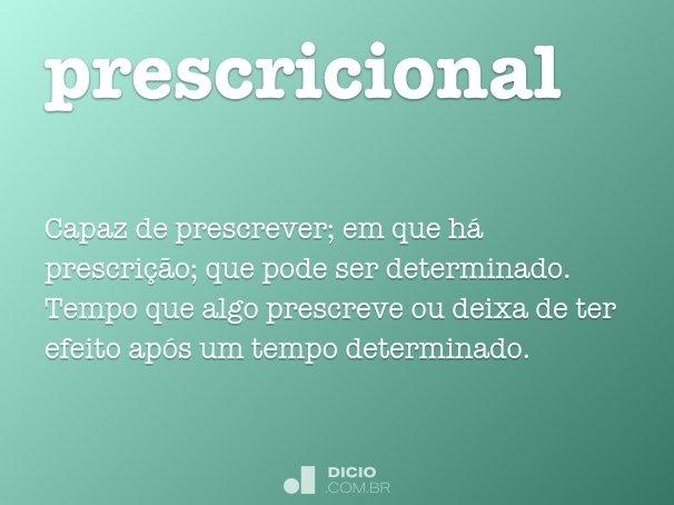 prescricional
