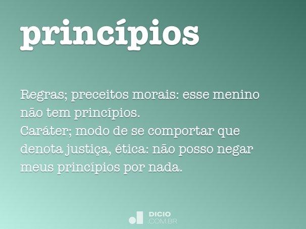 princ�pios