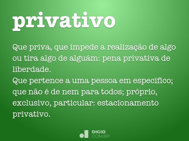privativo