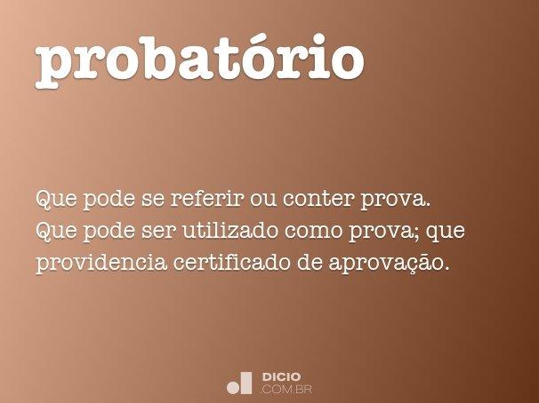 probat�rio