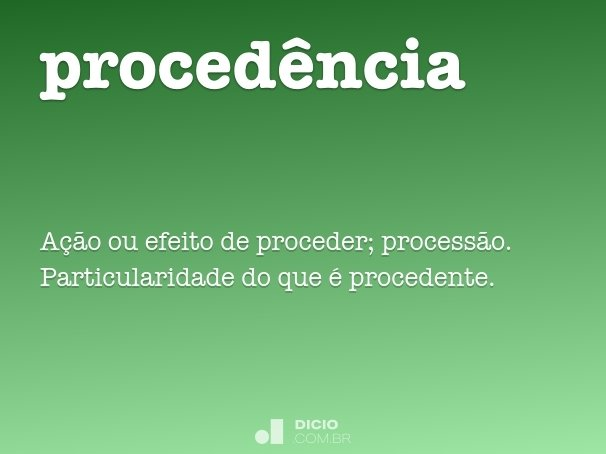 proced�ncia