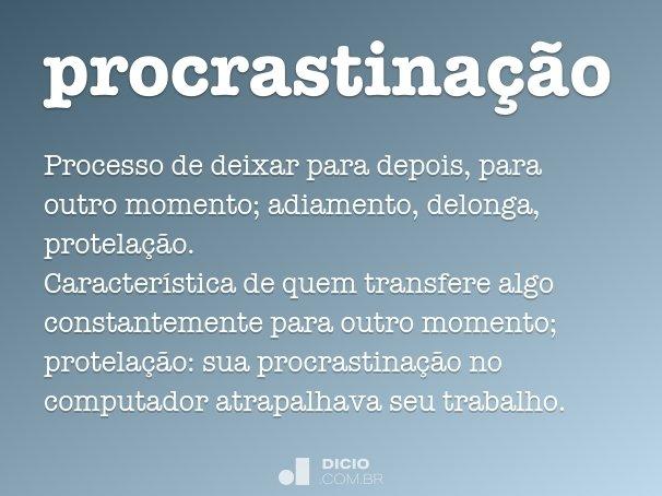 procrastina��o