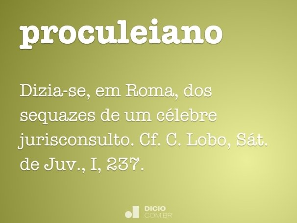 proculeiano