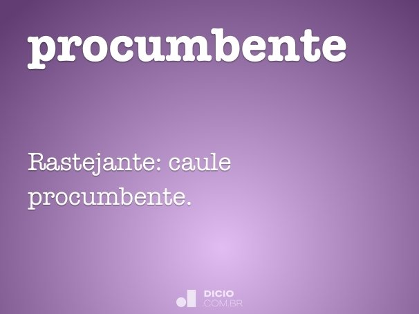 procumbente
