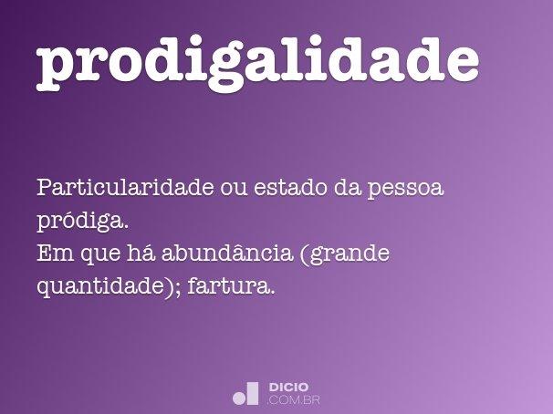 prodigalidade