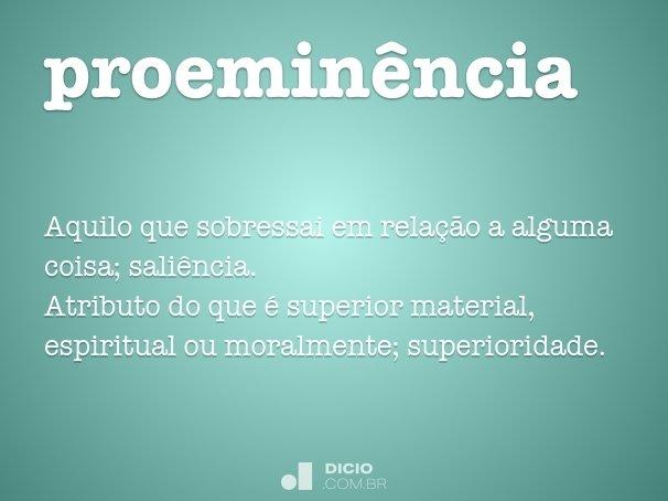 proemin�ncia