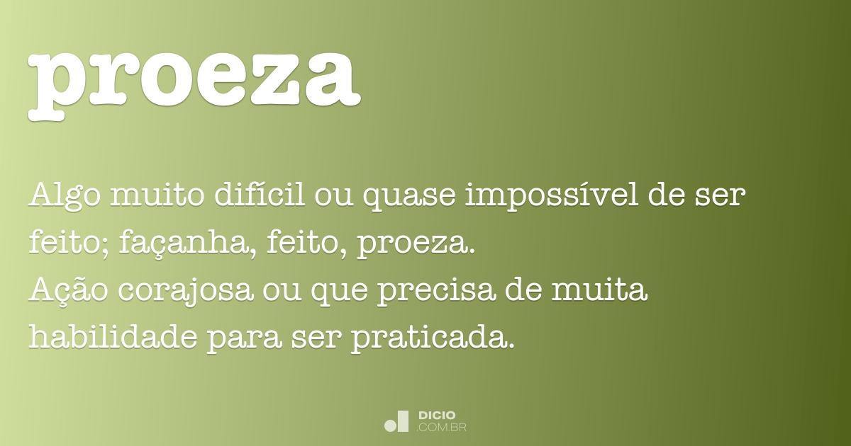 Proeza Dicio Dicion U00e1rio Online De Portugu U00eas