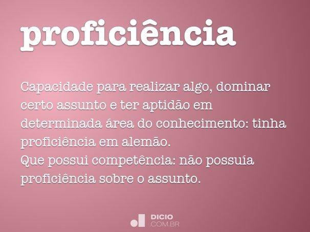 profici�ncia