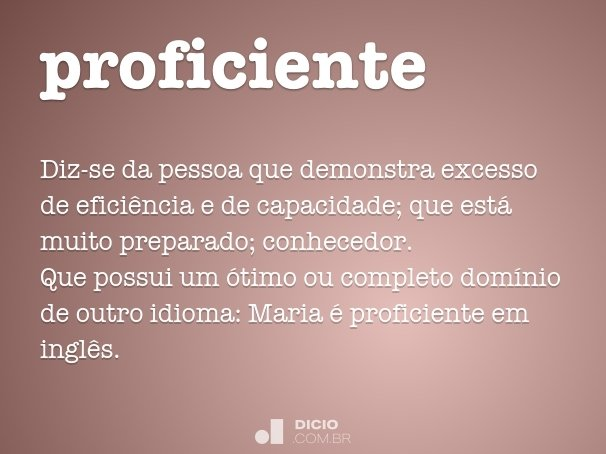 proficiente
