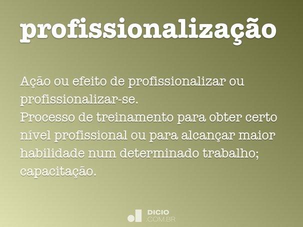 profissionalização