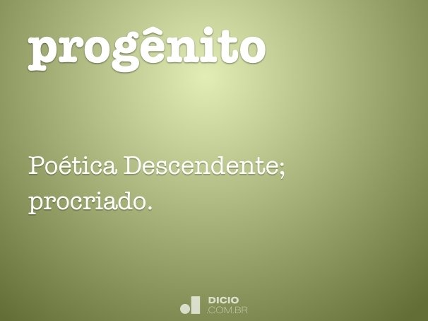 prog�nito