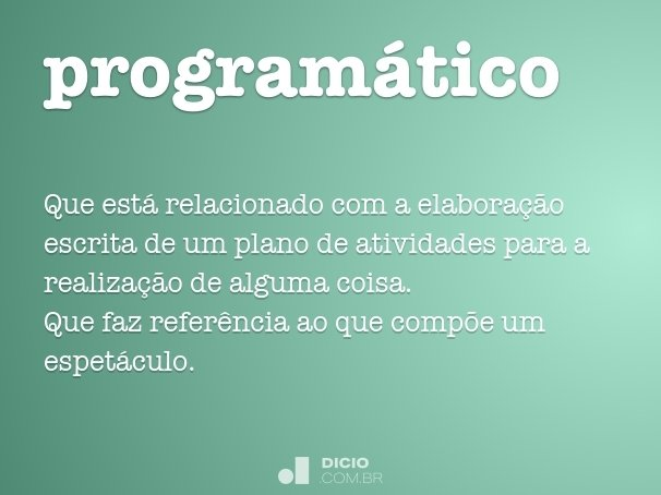 program�tico