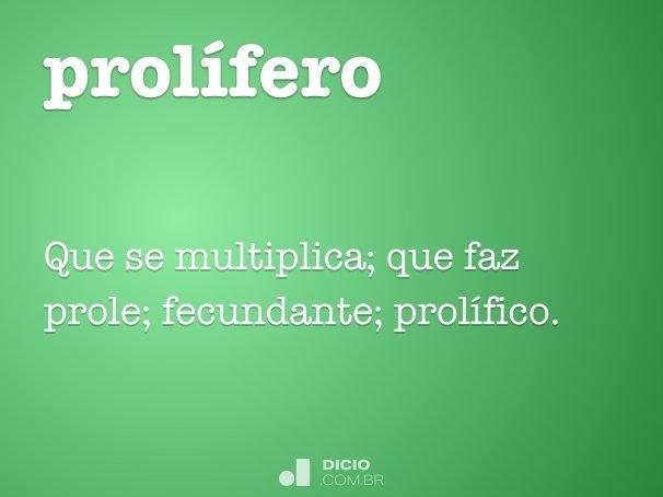 prol�fero