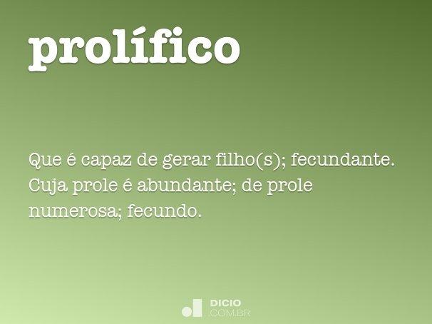 prol�fico