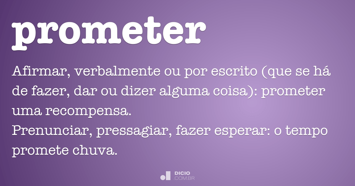 Prometer Dicio Dicionário Online De Português