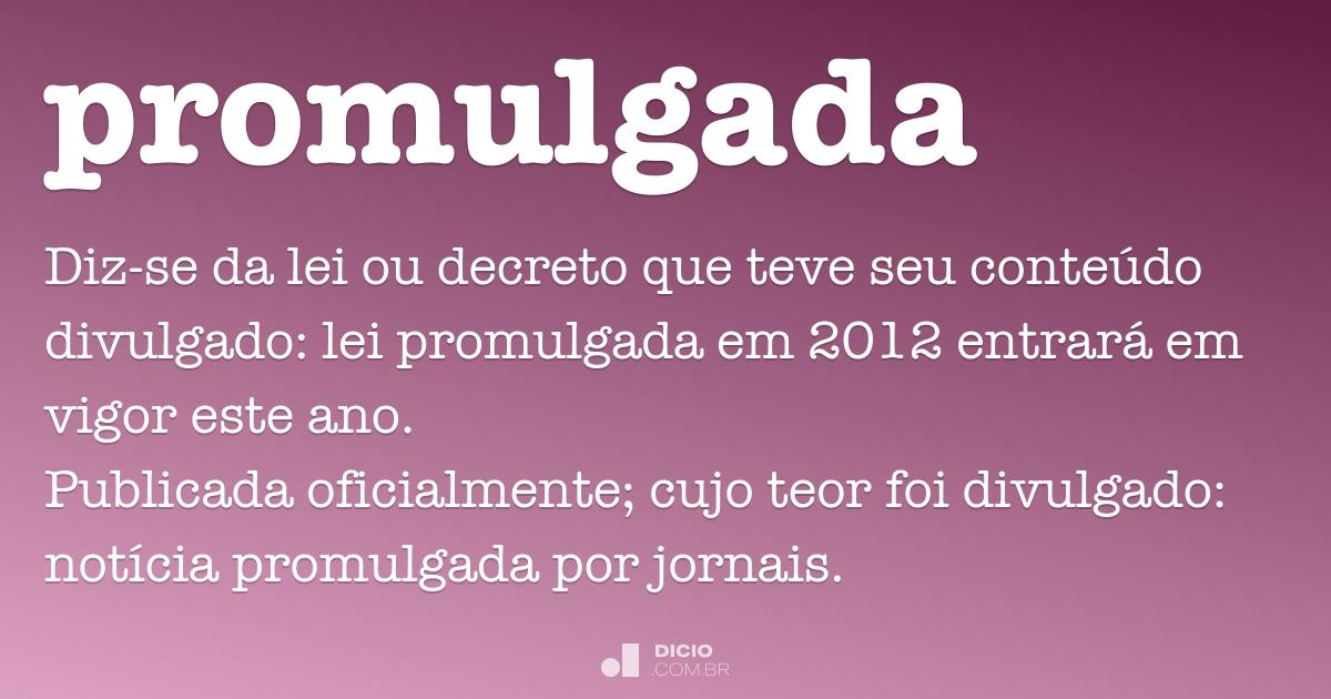 Artesanato Em Mdf Para Cozinha ~ Promulgada Dicio, Dicionário Online de Portugu u00eas