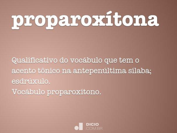 proparox�tona