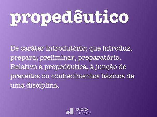 propedêutico