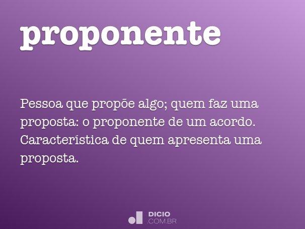 proponente