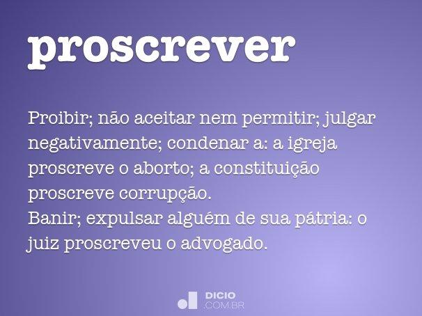 proscrever