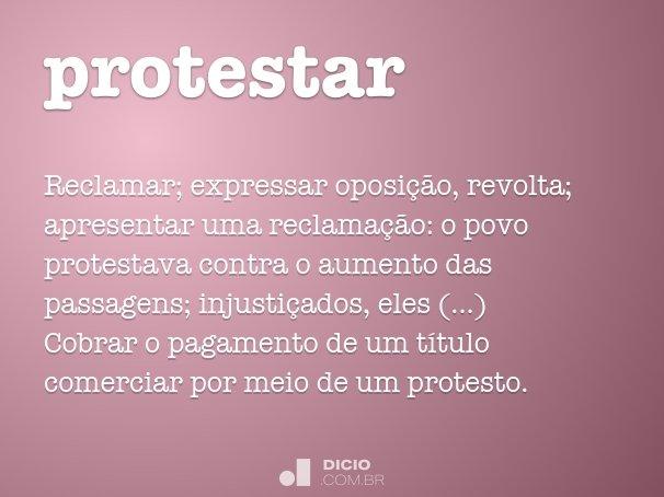 protestar