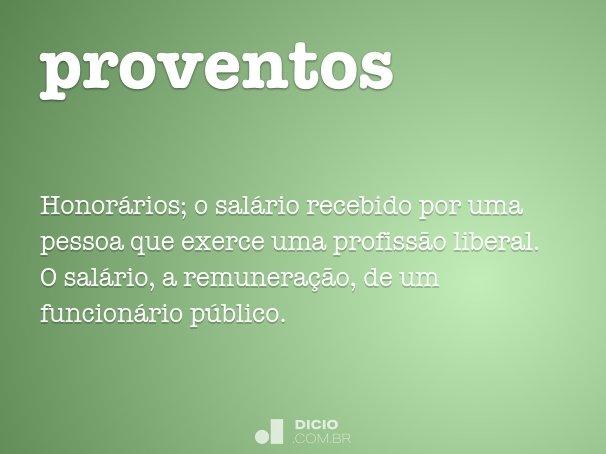 proventos