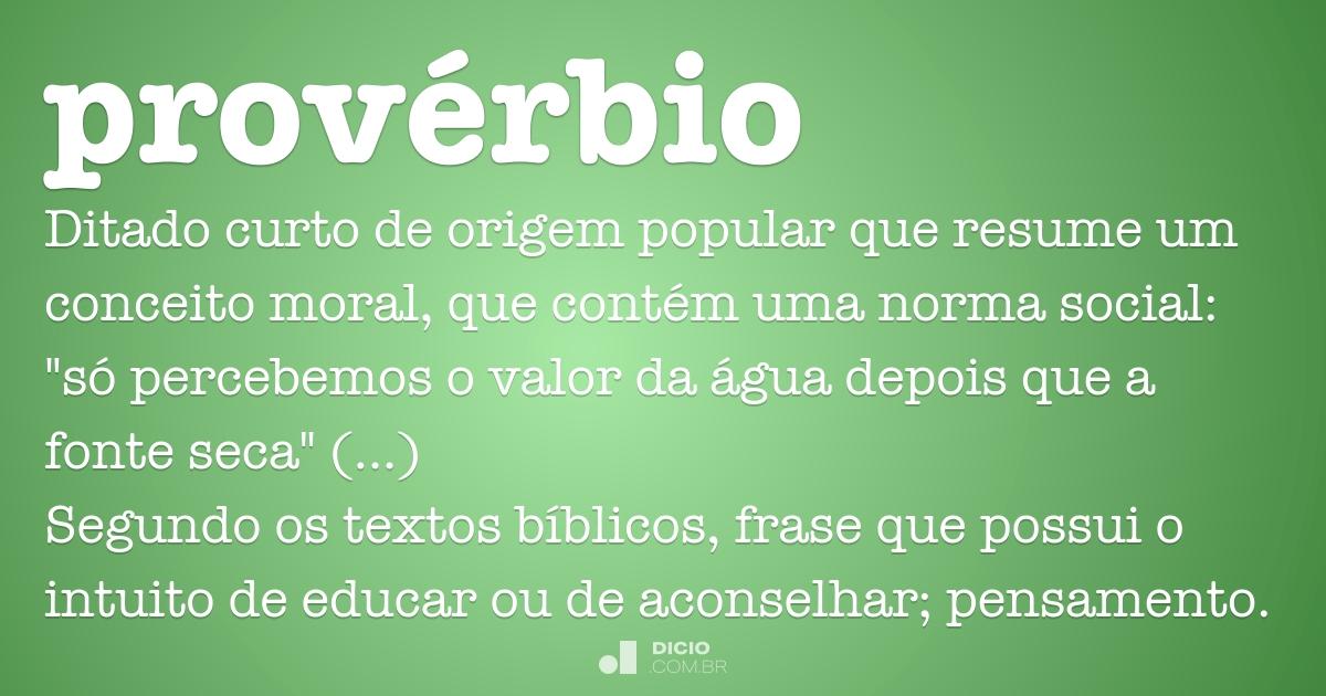 Prov 233 Rbio Dicio Dicion 225 Rio Online De Portugu 234 S