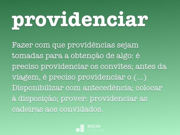 providenciar