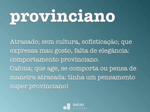 provinciano