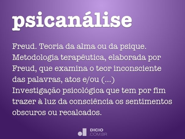 psican�lise