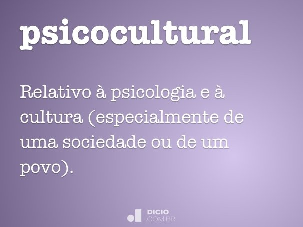 psicocultural