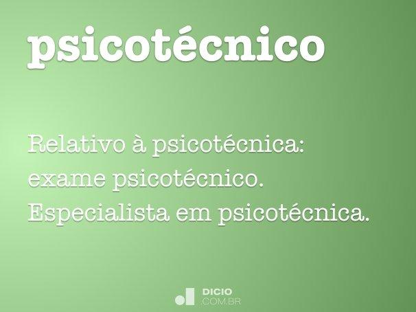 psicot�cnico