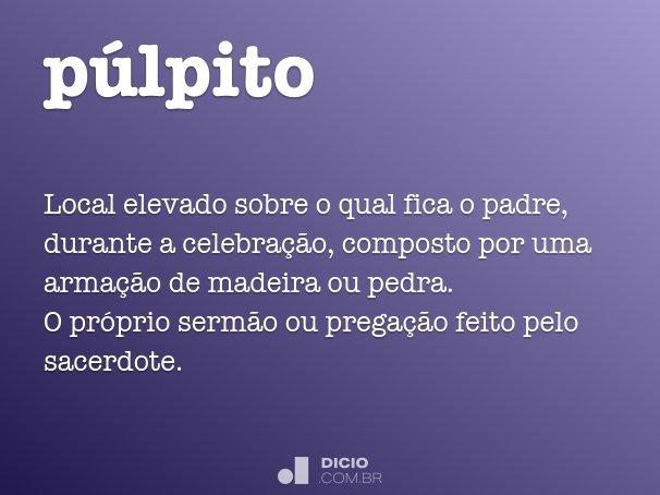 p�lpito