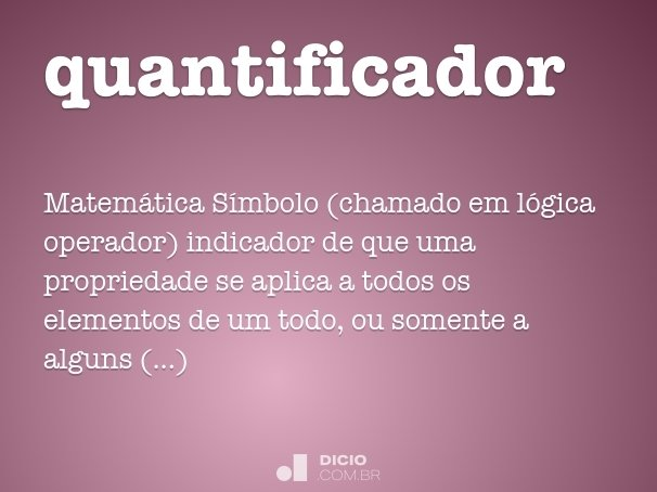 quantificador