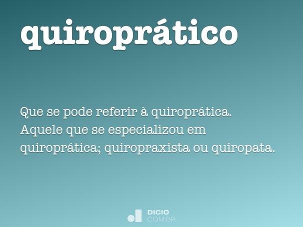 quiroprático