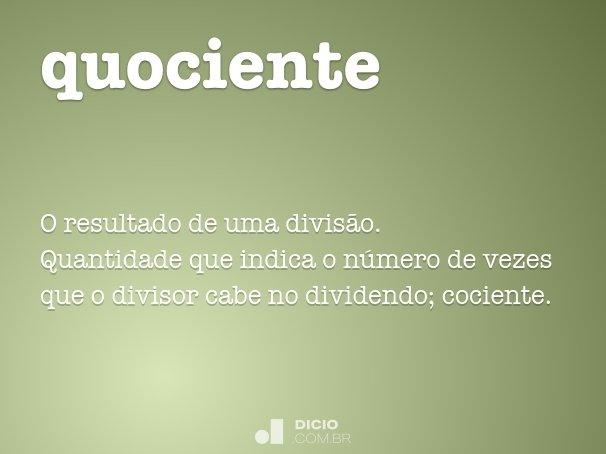 quociente