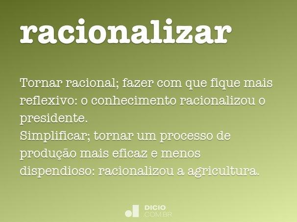 racionalizar
