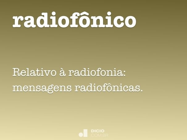 radiof�nico