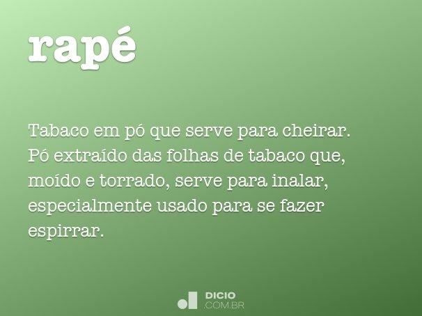 Rap dicion rio online de portugu s for Plural of canape