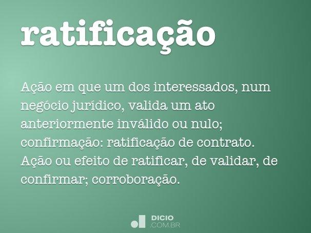ratifica��o