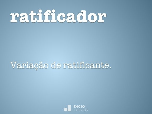 ratificador