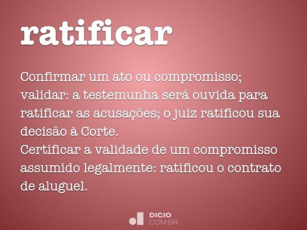 ratificar