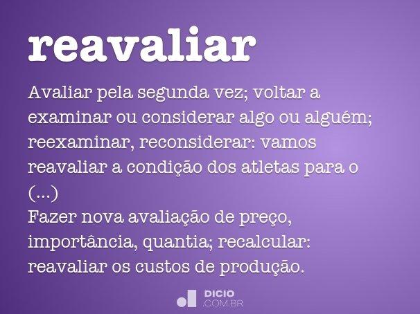 reavaliar