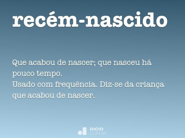 Recém Nascido Dicio Dicionário Online De Português