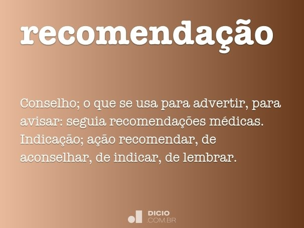 recomenda��o