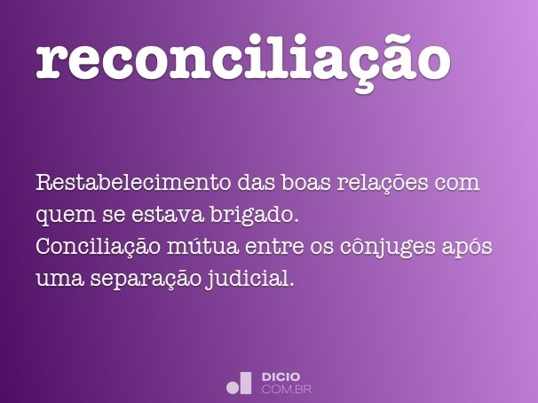 reconcilia��o